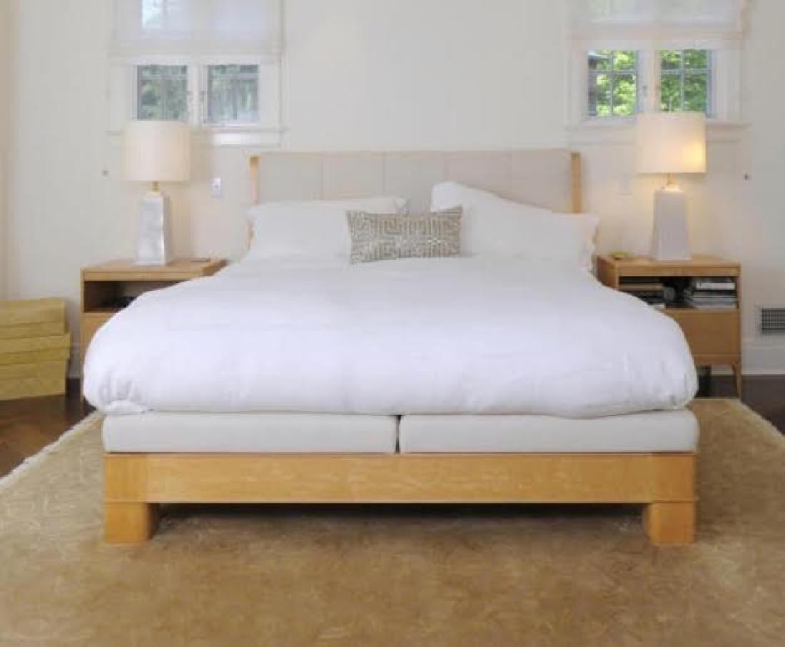 Custom King Size Upholstered Headboard & Bedframe