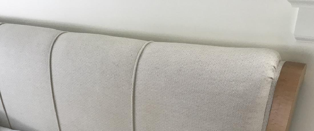 Custom King Size Upholstered Headboard & Bedframe - 2