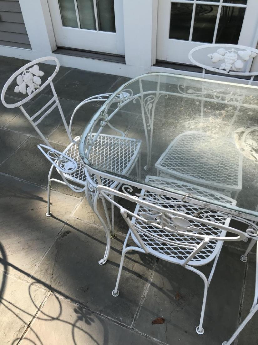 Garden / Outdoor Mid Century Dining Room Set - 5