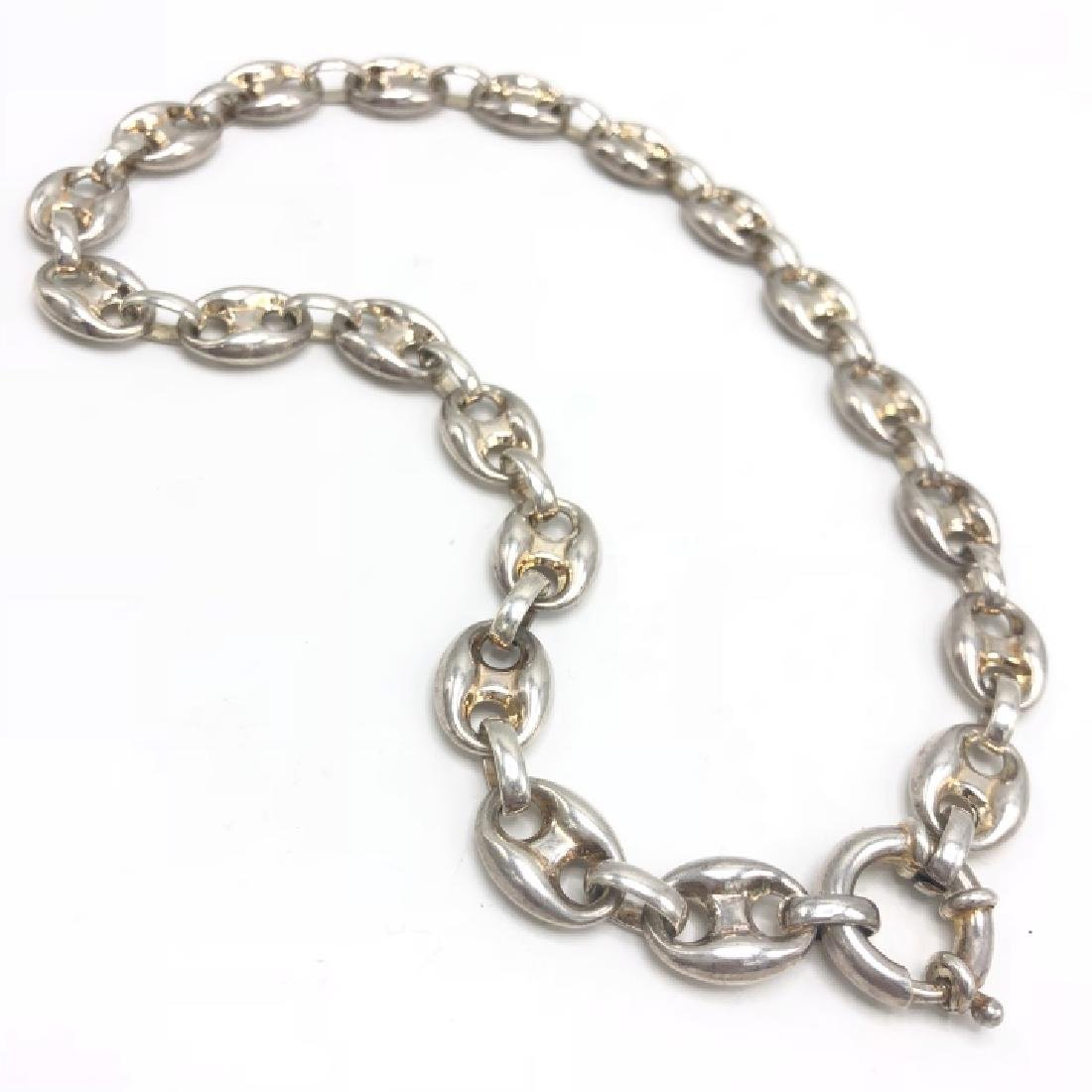 Vintage Sterling Gucci Style Marnier Link Chain