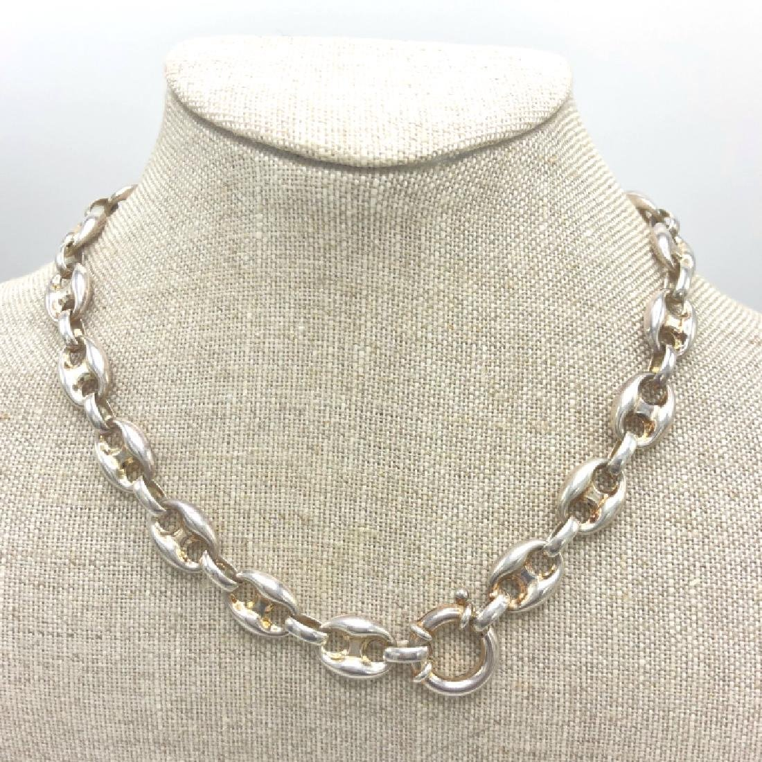 Vintage Sterling Gucci Style Marnier Link Chain - 3