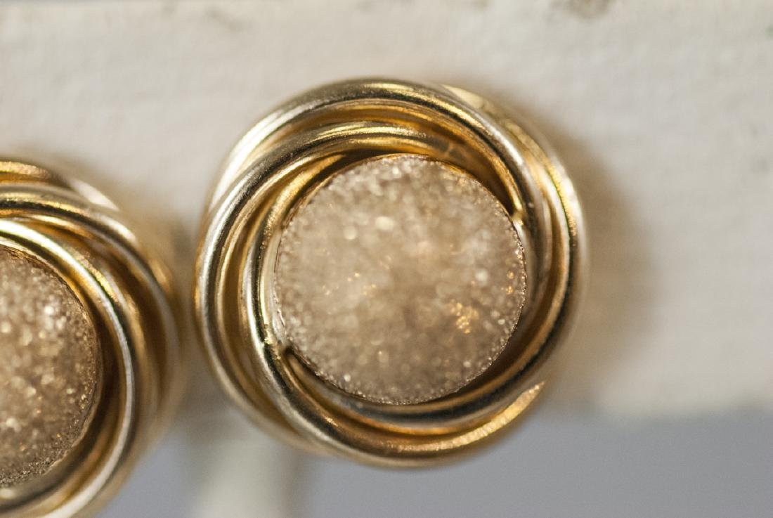 Pair of 14kt Yellow Gold Knot Motif Earring Studs - 3