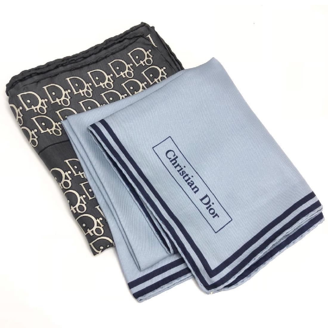 Pair of Vintage Christian Dior Silk Scarves