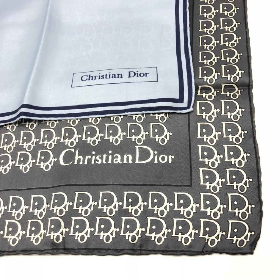 Pair of Vintage Christian Dior Silk Scarves - 3