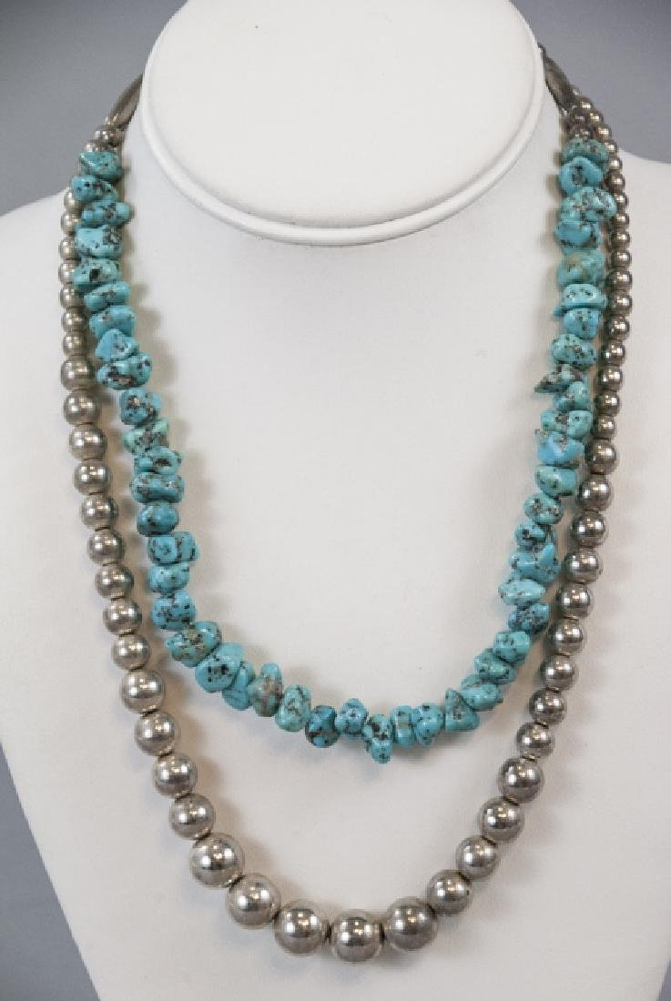 Two Vintage Native American Necklace Strands - 3