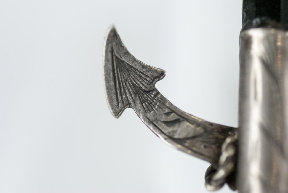 Antique Scottish Sterling Silver Anchor Pendant - 2