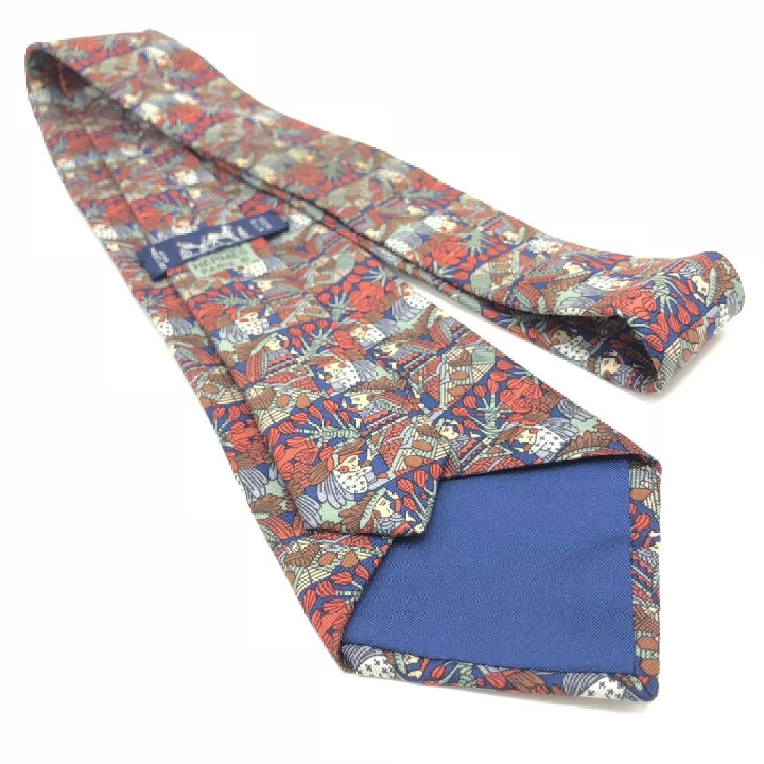 Vintage Authentic Hermes Graphic Men's Tie - 2