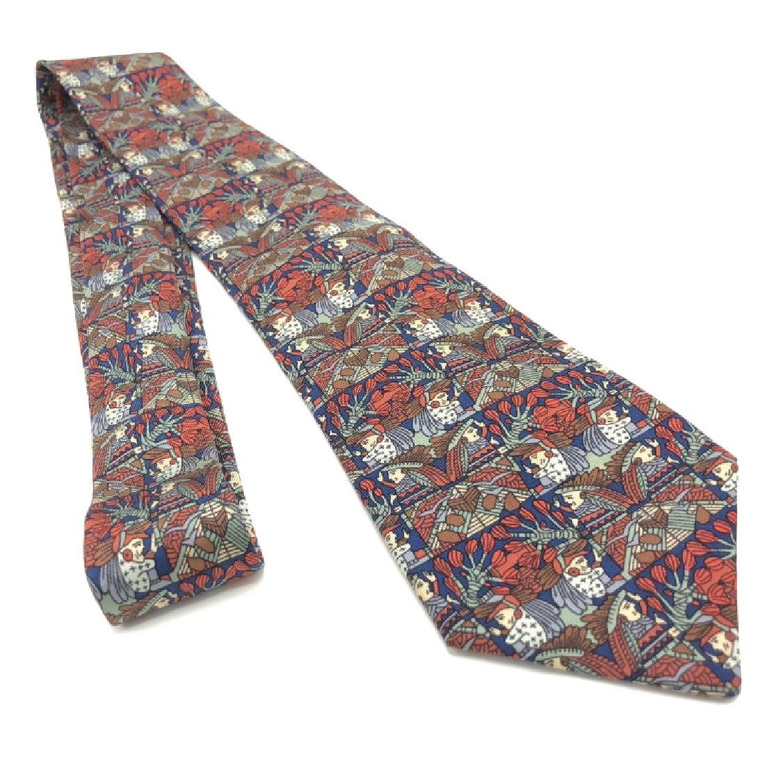 Vintage Authentic Hermes Graphic Men's Tie - 3