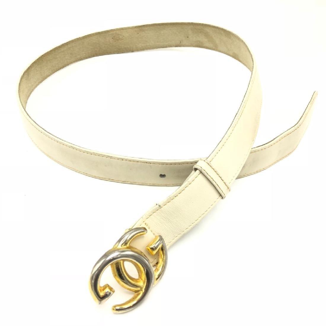 Authentic Vintage Gucci GG Logo Leather Belt - 3