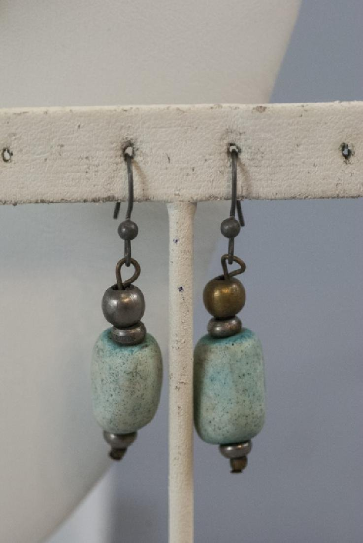 Handmade Turquoise Bead Necklace & Earring Set - 2