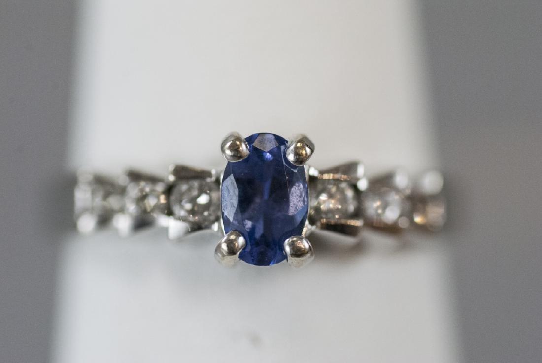 14kt White Gold Diamond & Tanzanite Ring - 3