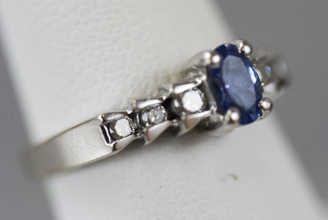 14kt White Gold Diamond & Tanzanite Ring - 5