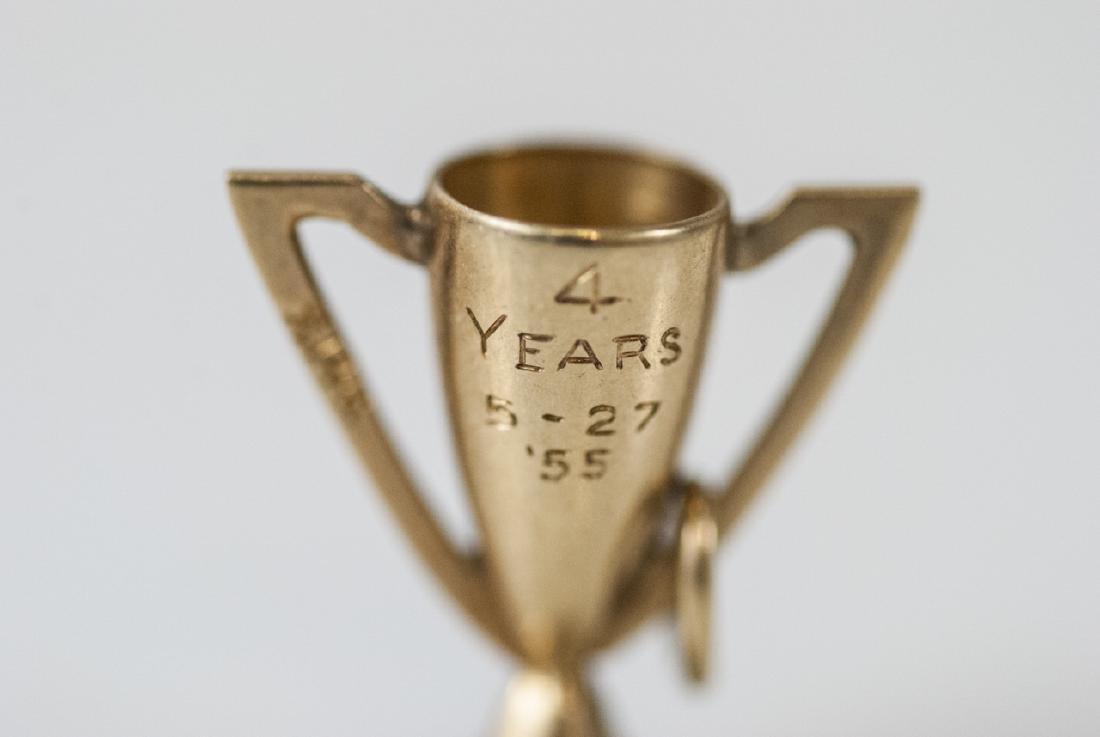 Estate 14kt Yellow Gold Trophy Charm / Pendant - 3