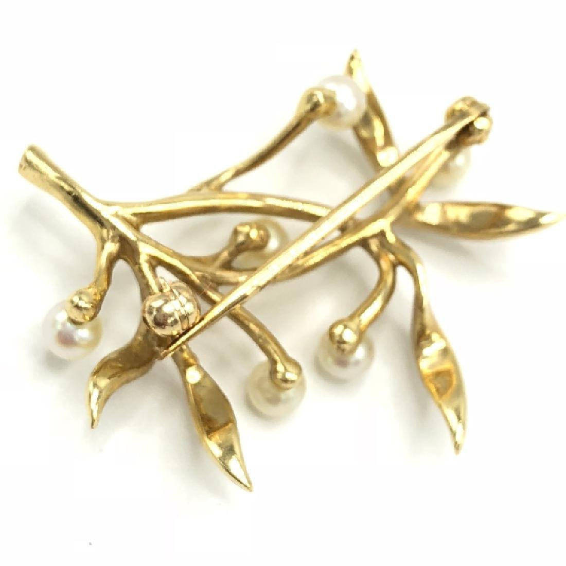 Estate / Vintage 14k Gold & Pearl Pin - 2