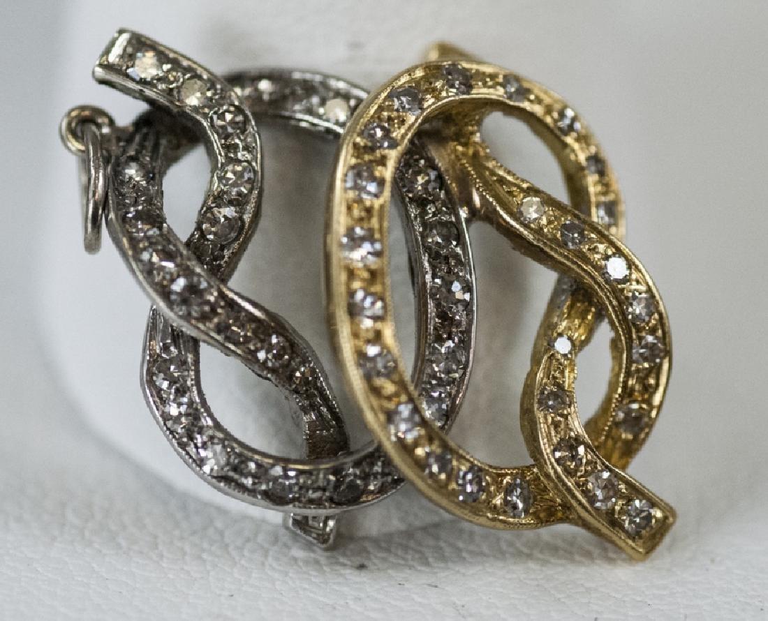 14kt Yellow & White Gold Diamond Necklace Pendant