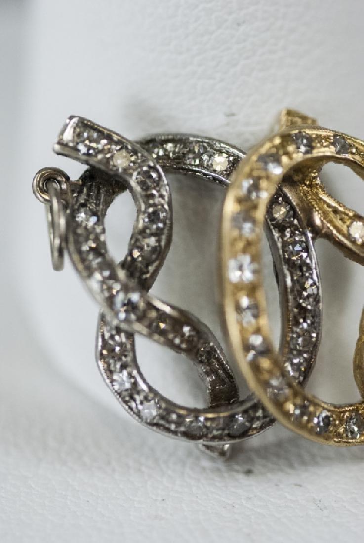 14kt Yellow & White Gold Diamond Necklace Pendant - 2