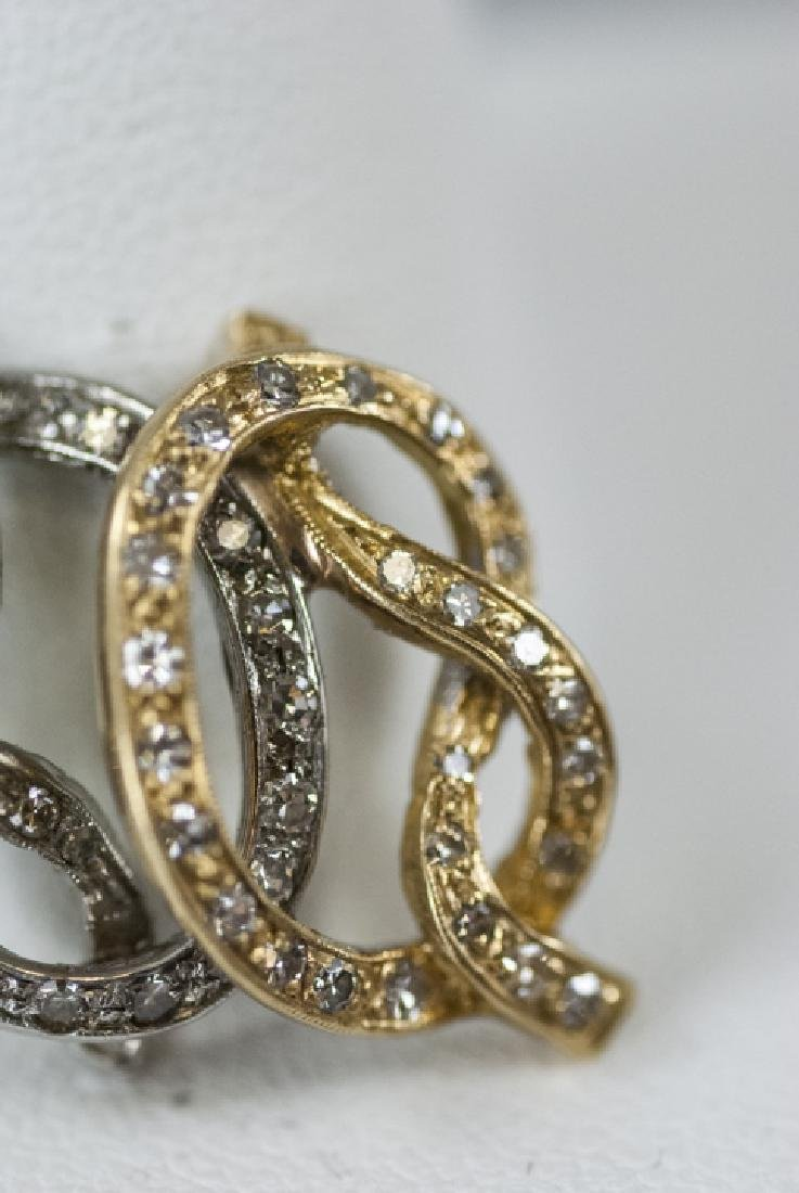14kt Yellow & White Gold Diamond Necklace Pendant - 3