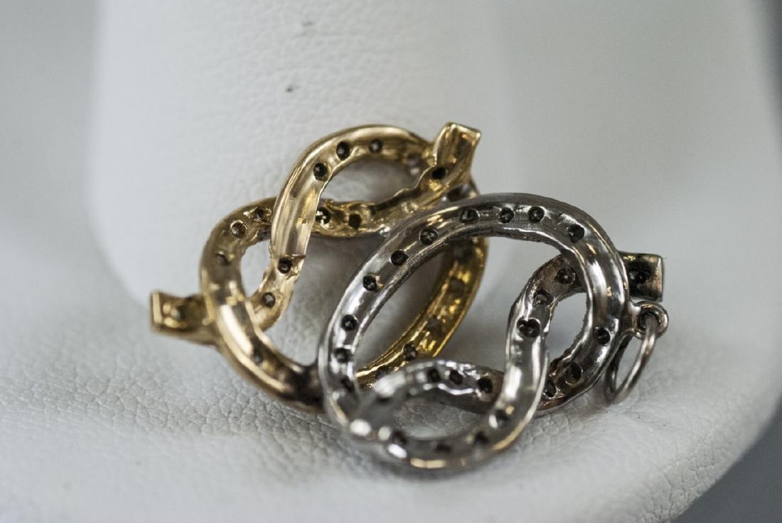 14kt Yellow & White Gold Diamond Necklace Pendant - 4