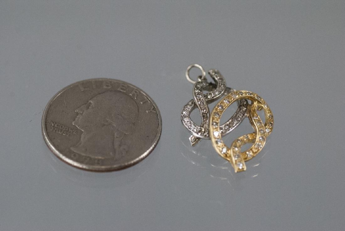 14kt Yellow & White Gold Diamond Necklace Pendant - 5