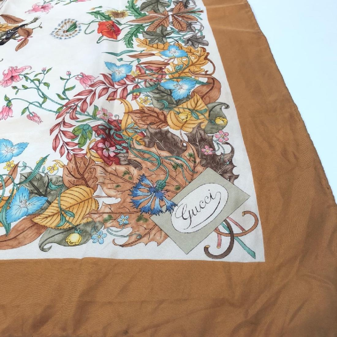 Vintage Authentic Gucci V. Accornero Silk Scarf - 3