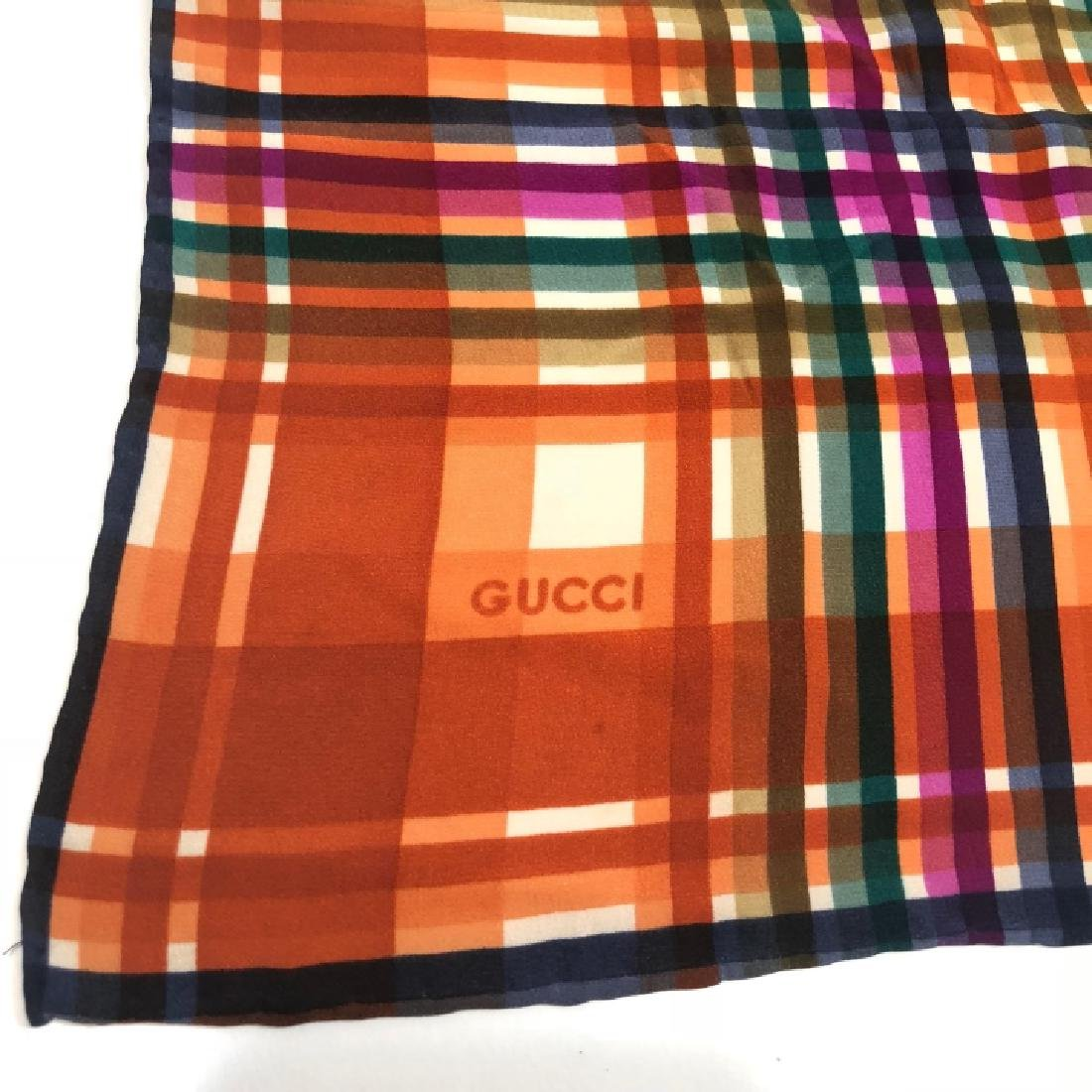 Authentic Gucci Vintage Silk Scarf – Signed - 4