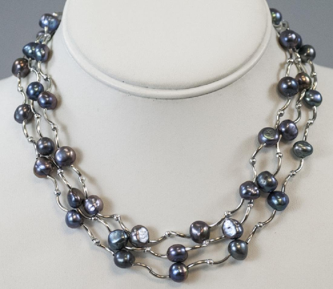 Three Necklaces w Tahitian Style Baroque Pearls