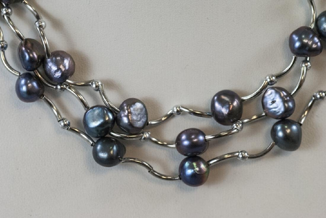 Three Necklaces w Tahitian Style Baroque Pearls - 2