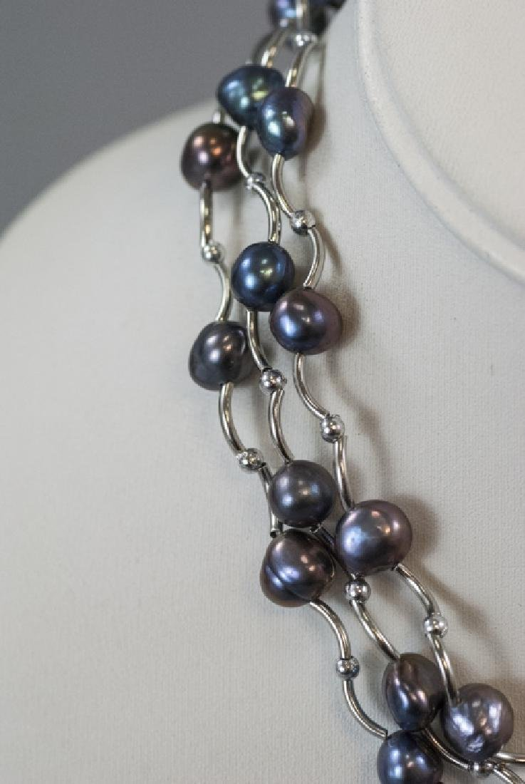 Three Necklaces w Tahitian Style Baroque Pearls - 3