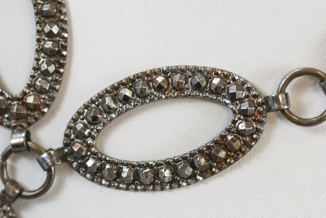 Antique Pressed Steel Costume Jewelry Necklace - 6