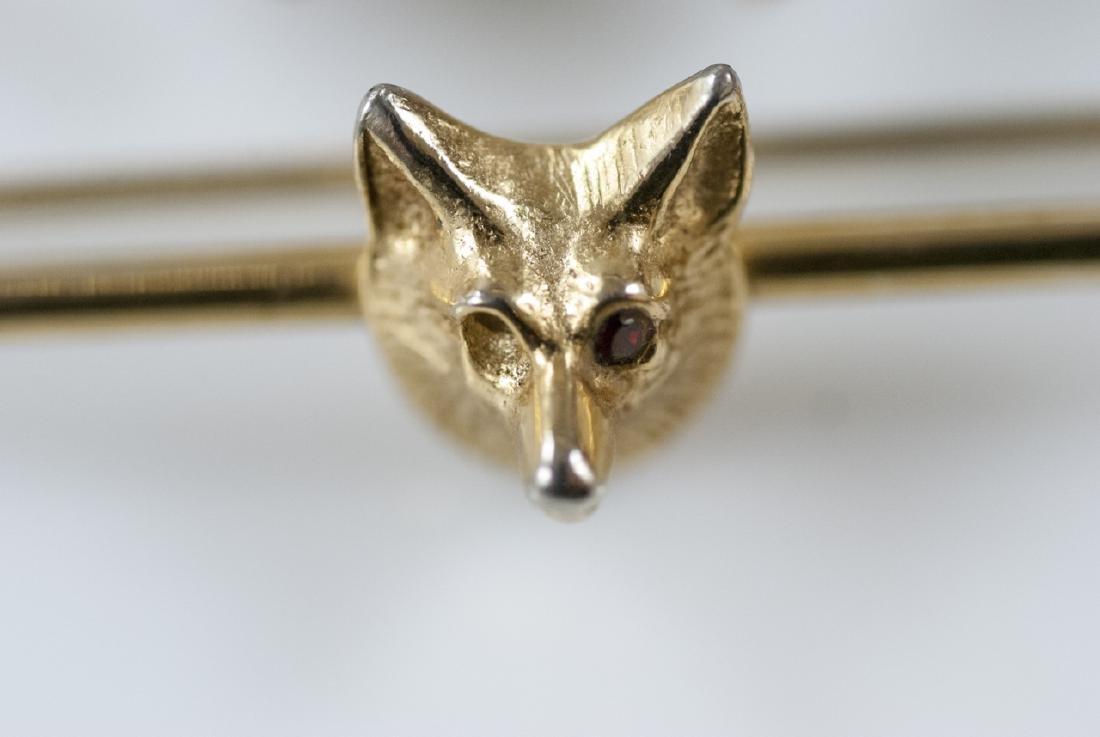 Vintage Horse Shoe Brooch & Fox Hunt Bar Pin - 3