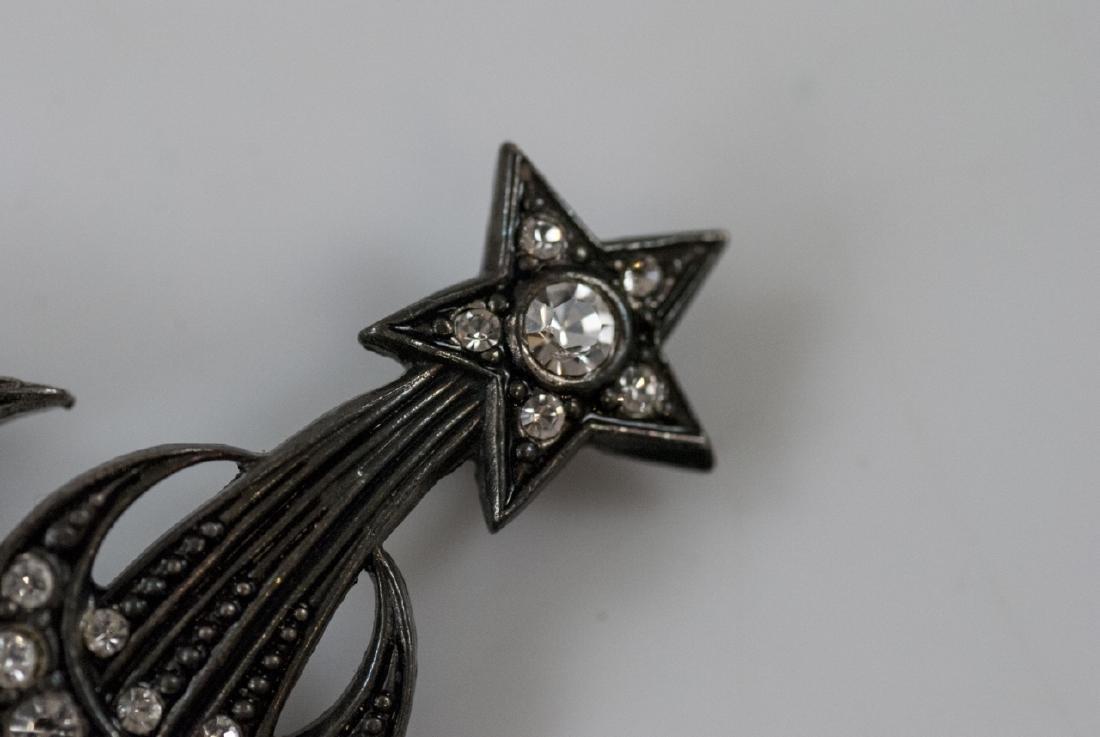 Star Burst Motif & Arrow w Locket Brooch / Pins - 2