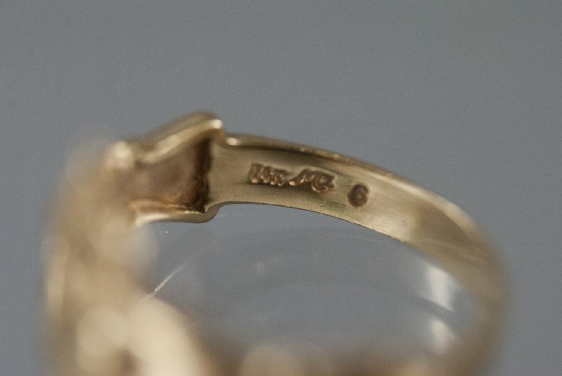 Vintage 14kt Yellow Gold Irish Claddagh Ring - 6