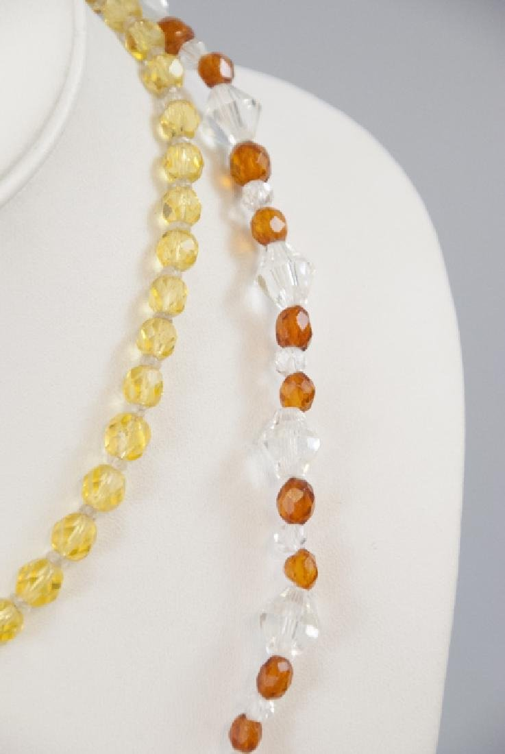 Two Antique Rock Crystal & Czech Glass Necklaces - 2