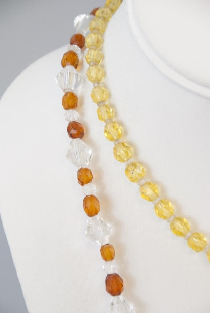 Two Antique Rock Crystal & Czech Glass Necklaces - 5