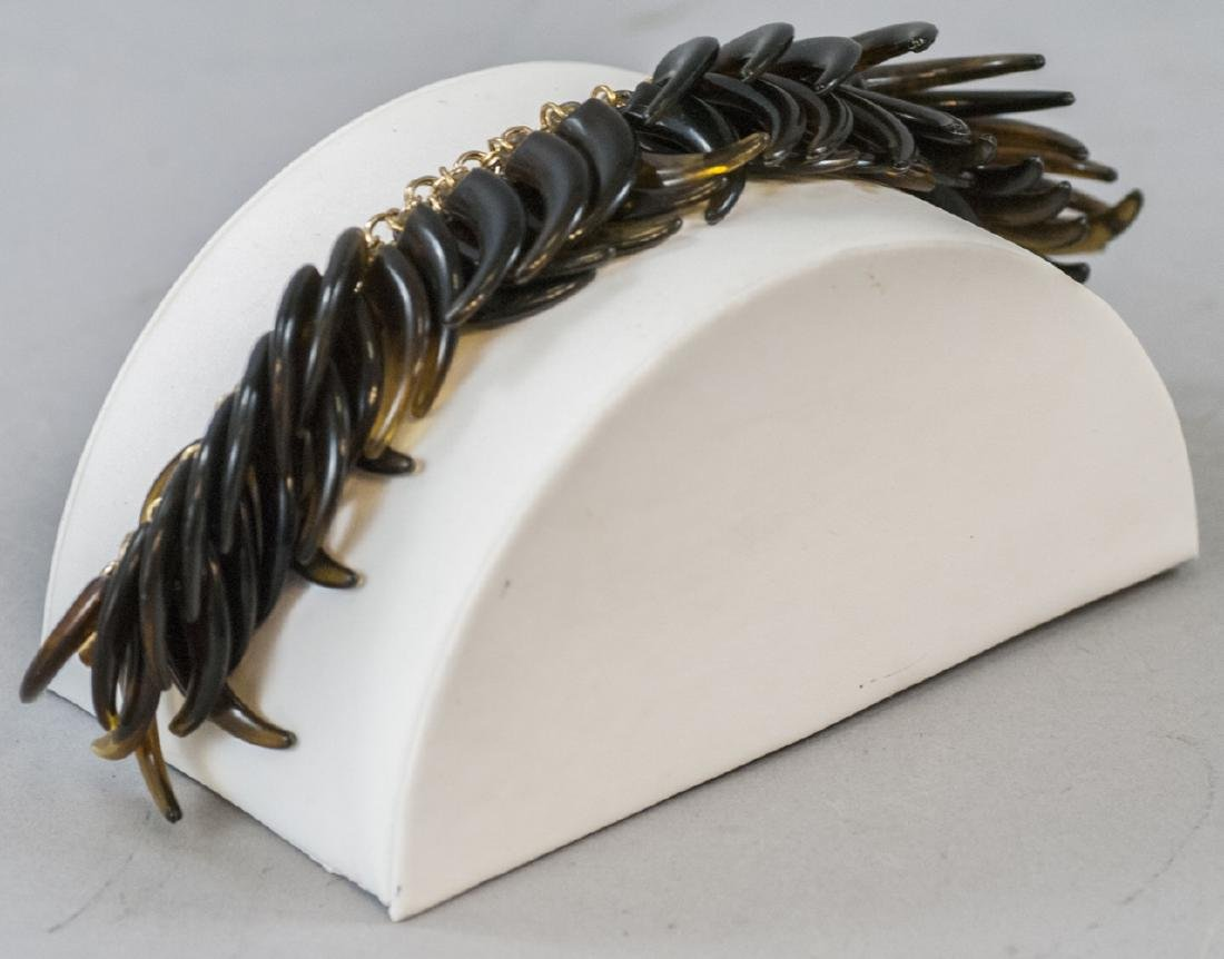 Vintage Gilt Metal & Faux Tortoise Shell Bracelet