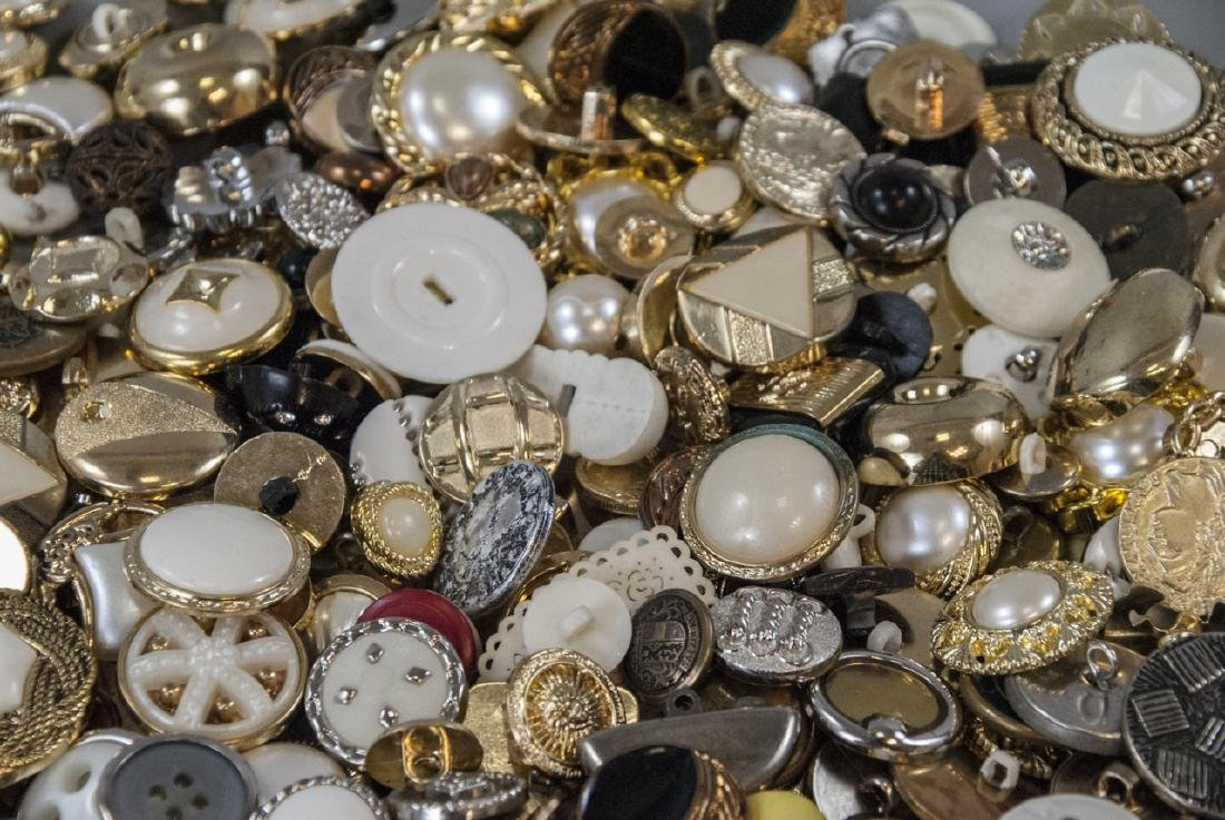 Large Collection of Vintage Clothing Buttons - 2