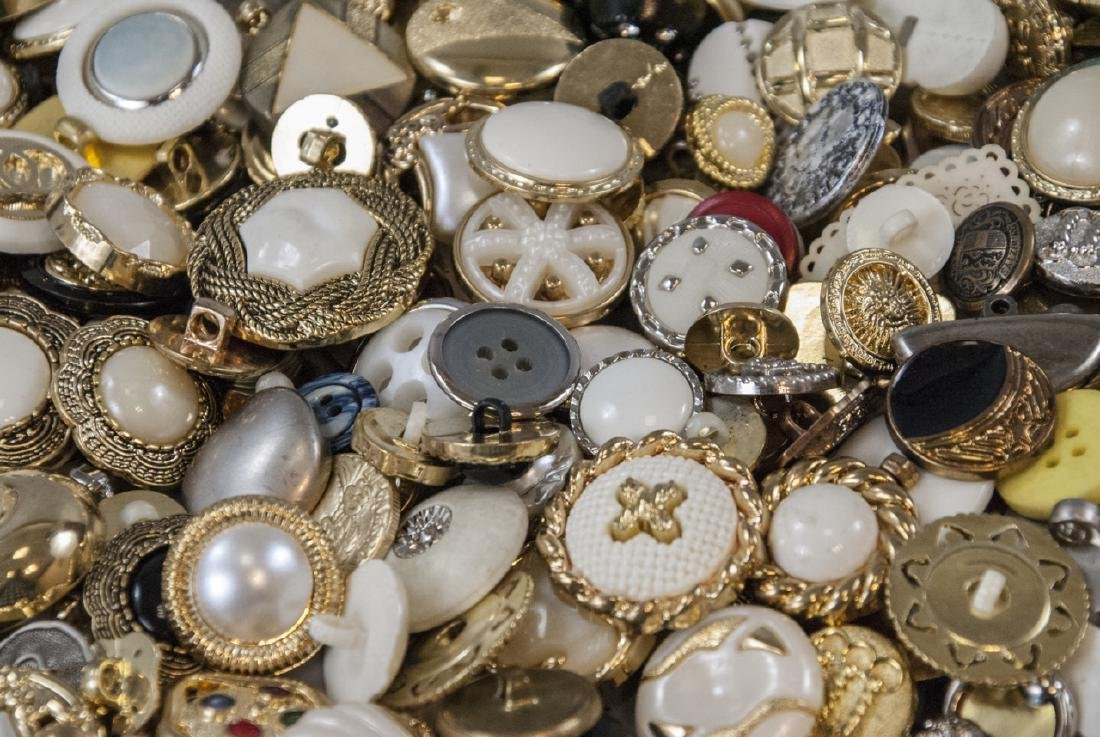 Large Collection of Vintage Clothing Buttons - 7