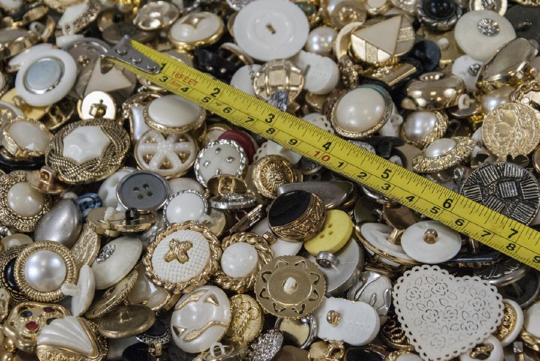 Large Collection of Vintage Clothing Buttons - 8