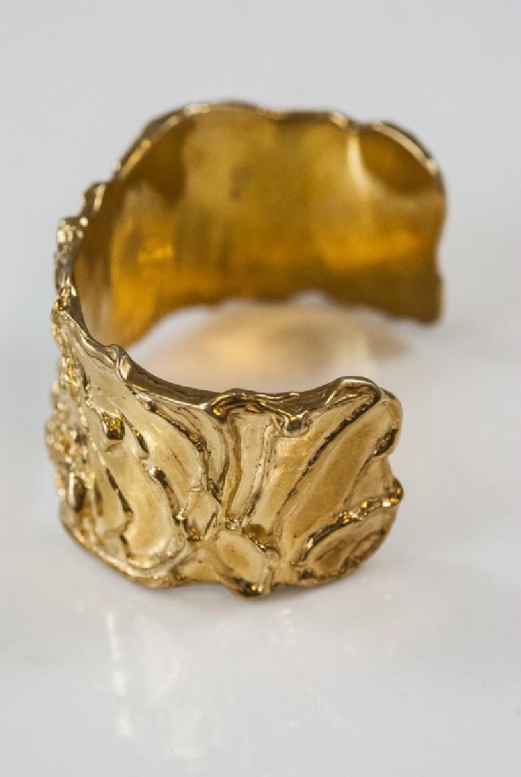 Artisan Handmade Sterling Vermeil Cuff Bracelet - 2