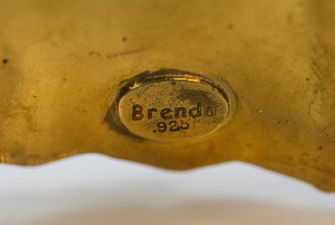 Artisan Handmade Sterling Vermeil Cuff Bracelet - 5