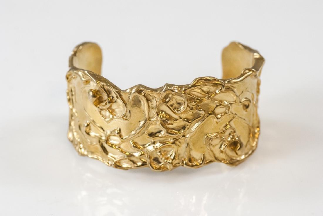 Artisan Handmade Sterling Vermeil Cuff Bracelet - 6