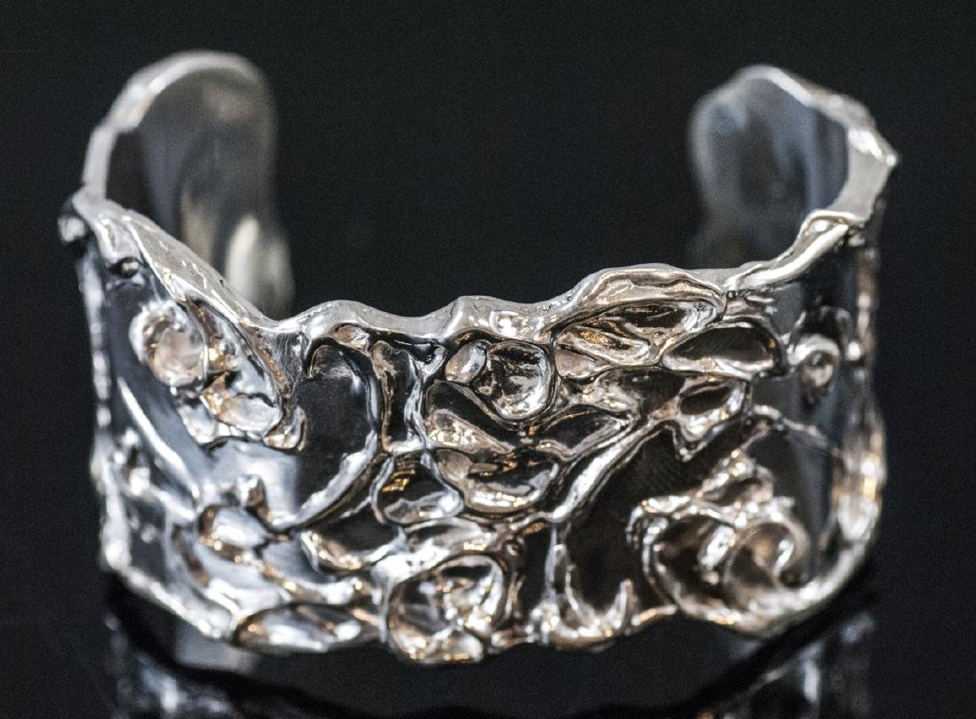 Artisan Handmade Sterling Silver Cuff Bracelet