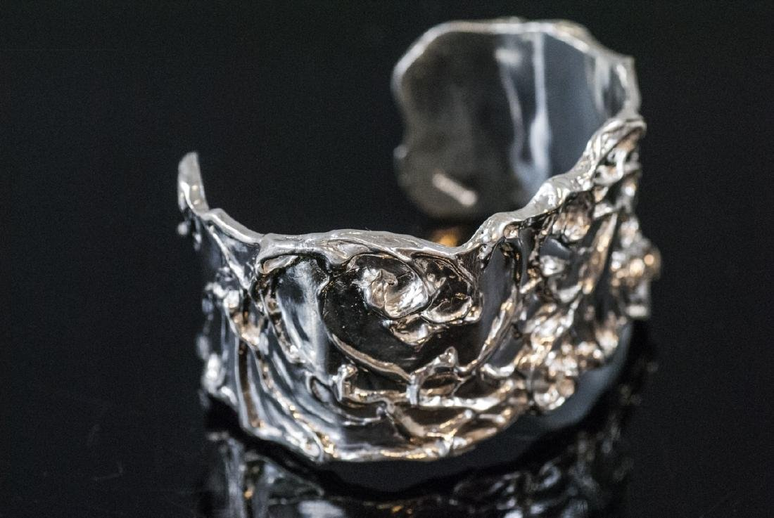 Artisan Handmade Sterling Silver Cuff Bracelet - 2