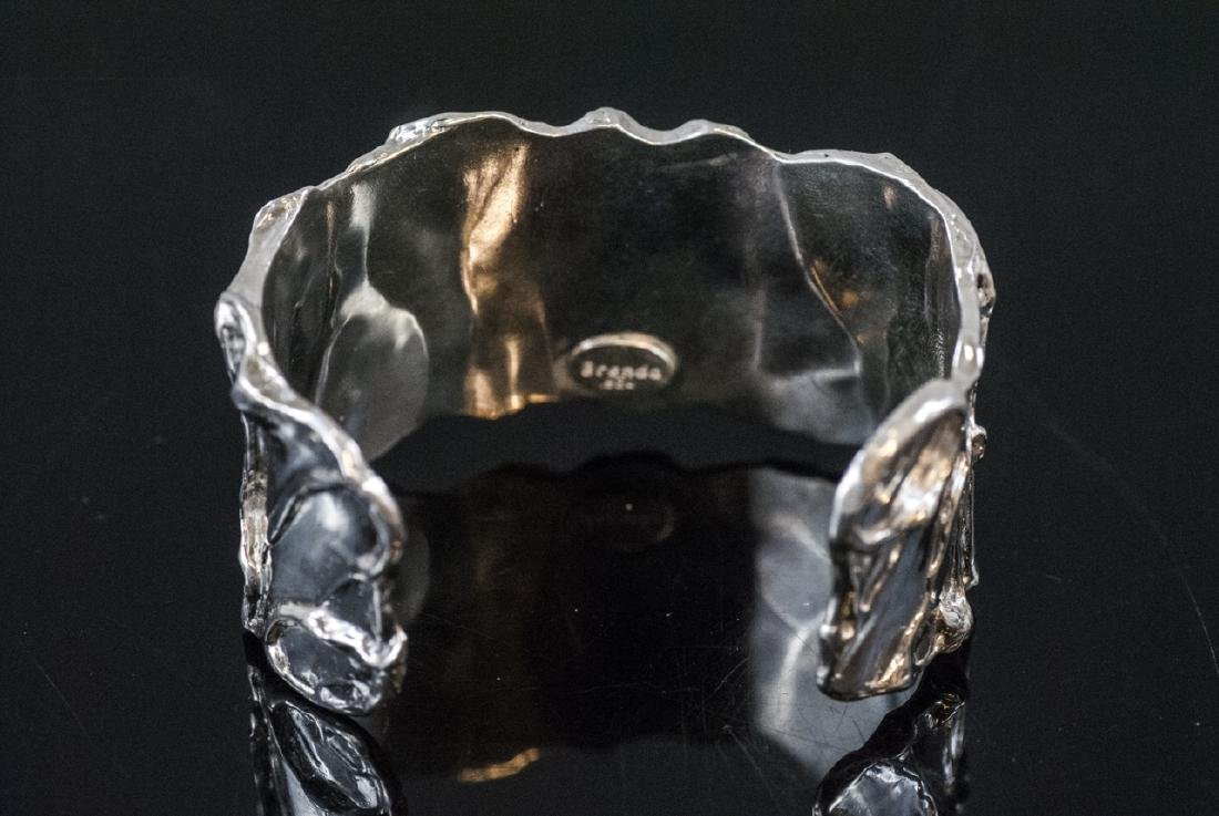 Artisan Handmade Sterling Silver Cuff Bracelet - 3