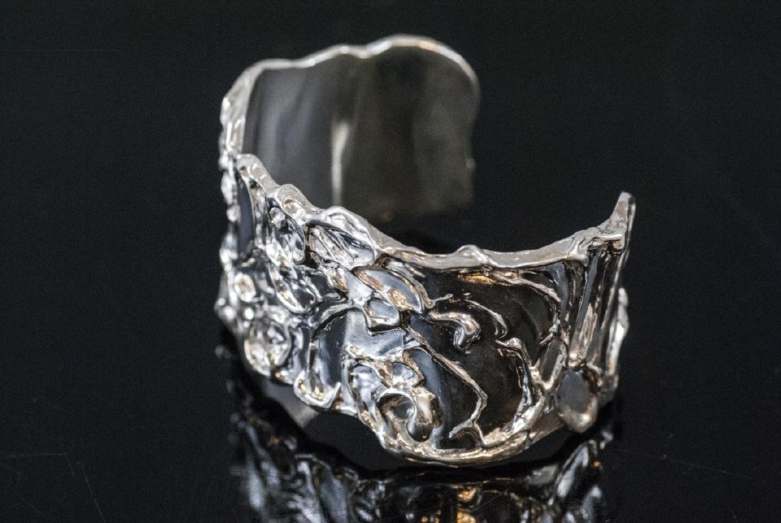 Artisan Handmade Sterling Silver Cuff Bracelet - 6