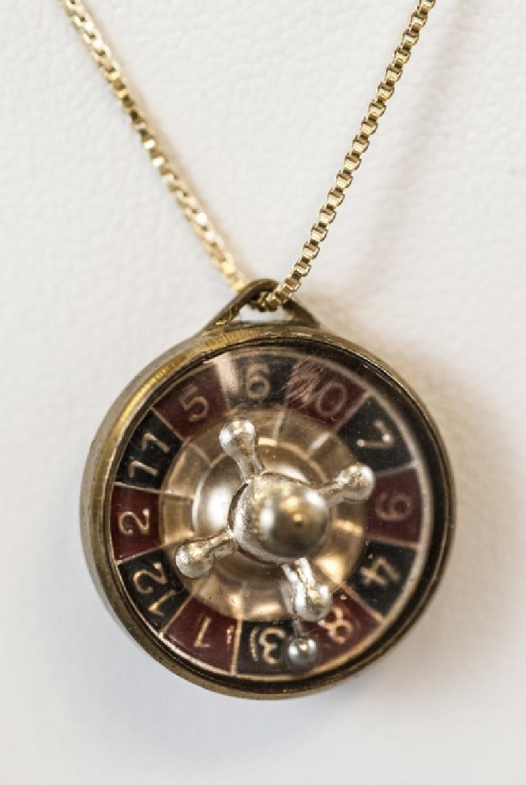 Austrian Roulette Wheel Vermeil Sterling Necklace - 2