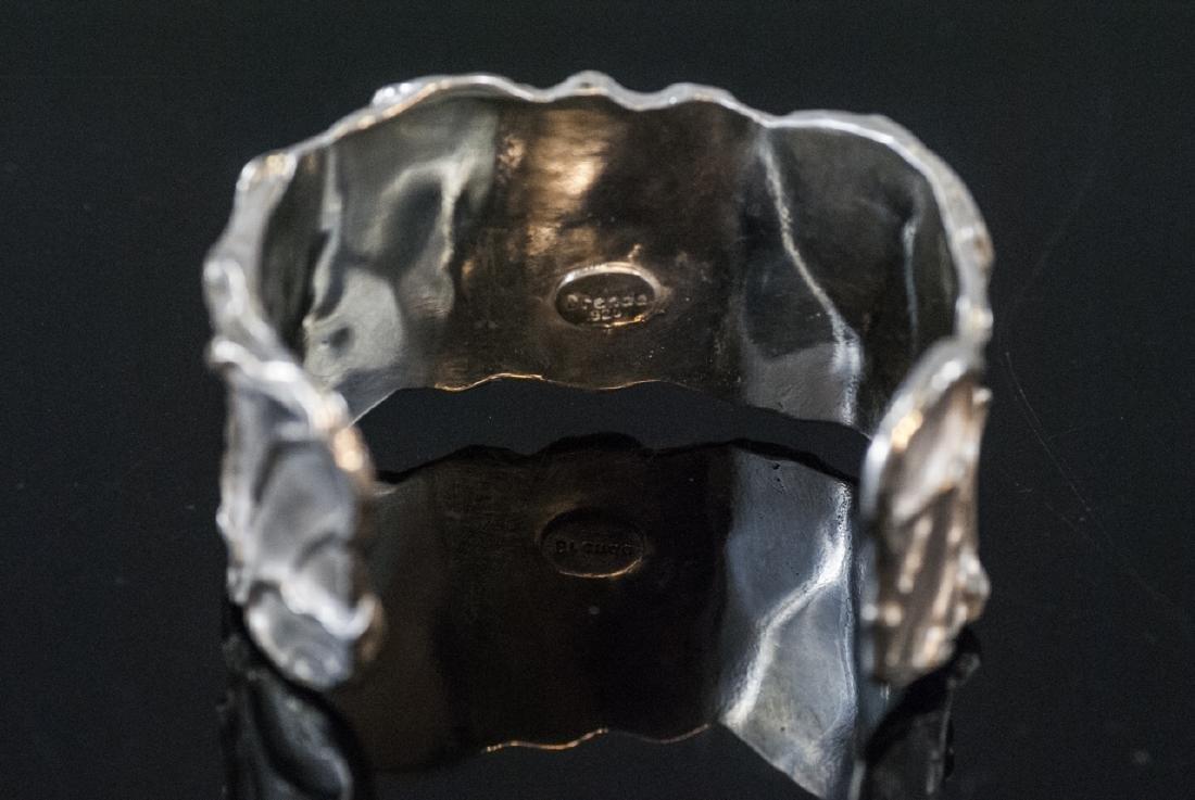 Artisan Handmade Sterling Silver Cuff Bracelet - 4