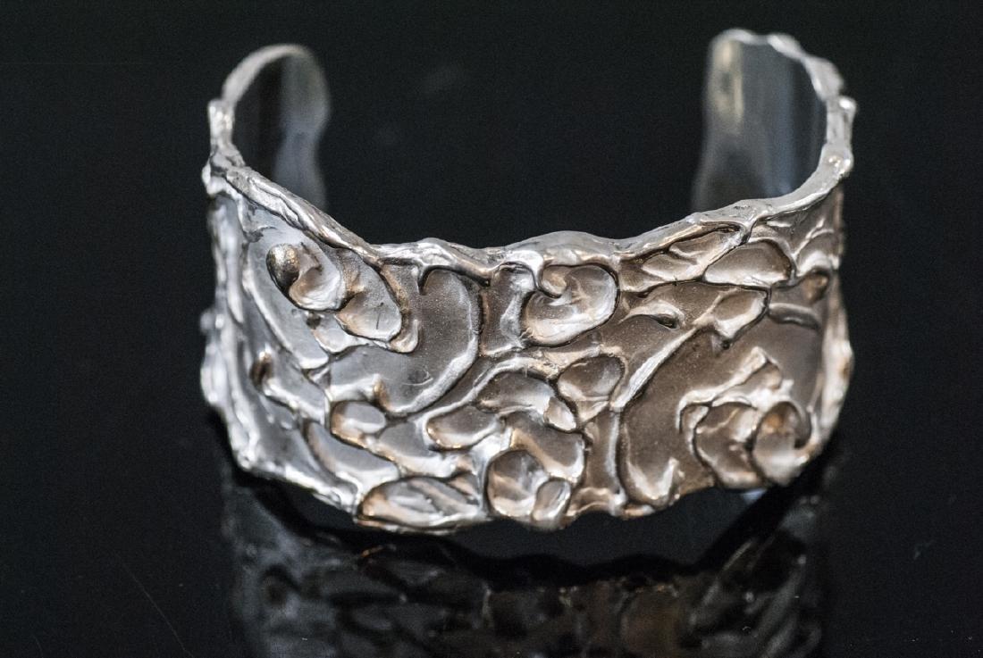 Artisan Handmade Sterling Silver Cuff Bracelet - 7