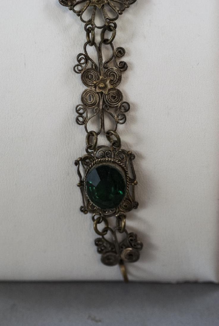 Estate Filigree & Hand Carved Shell Cameo Bracelet - 2