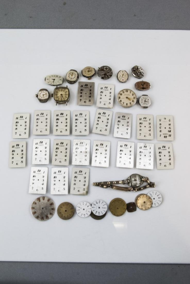 Collection of Antique Watches Faces, Cases & Parts